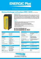 Battery discharger and analyzer MPD-1007E