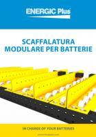 Scaffalatura modulare per batterie